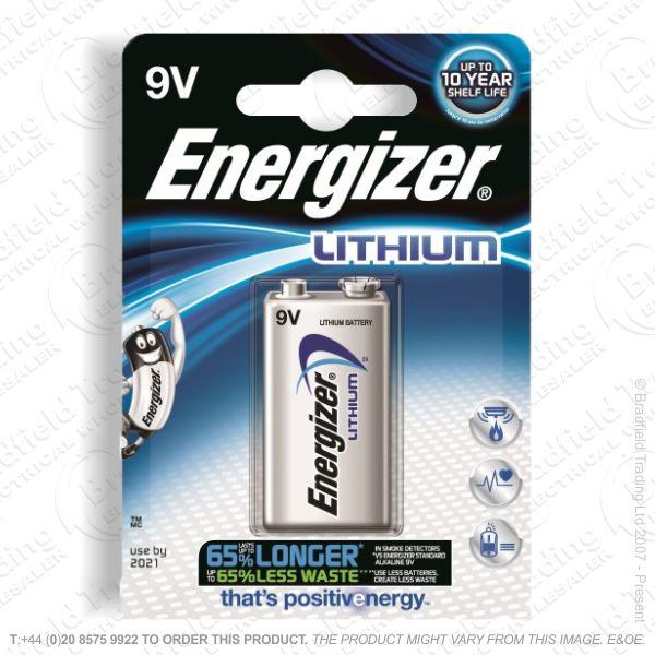 E08) Battery 9V lithium Single ENERGIZER