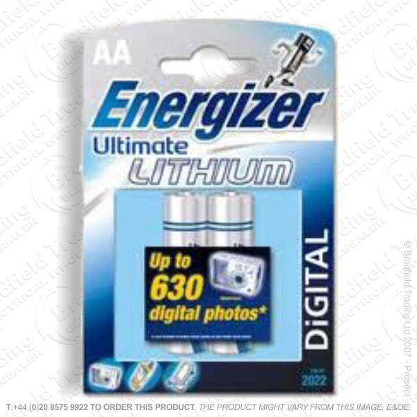 E08) Battery AA 1.5V lithium ENE Cd x2