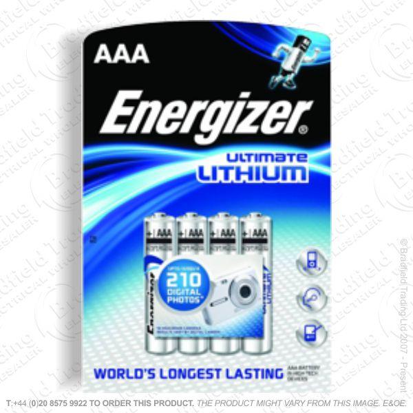 E08) Battery AAA 1.5V lithium ENE Cd x4