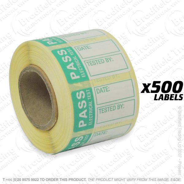 G53) Small Pass Labels 500 (30x20mm)