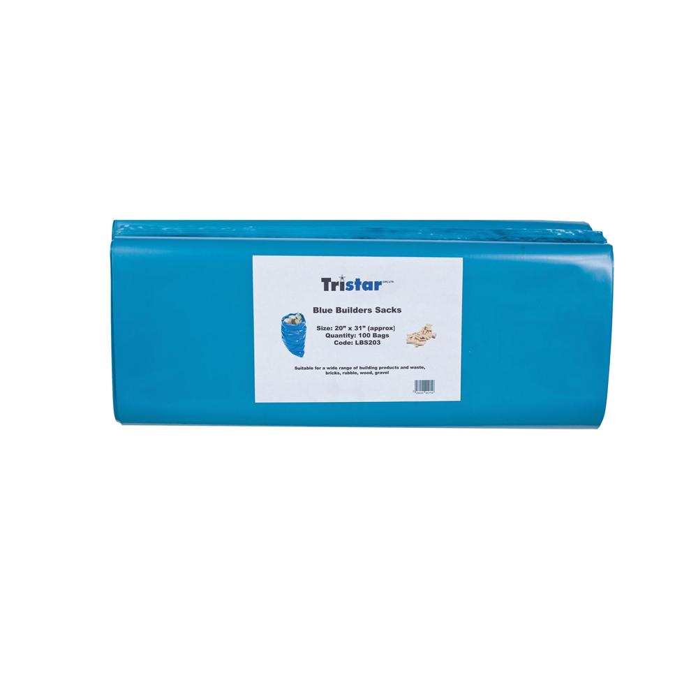 100pc Heavy Duty Rubble Bags Blue