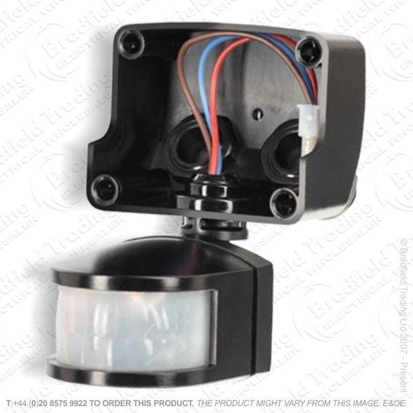 PIR only LED Pro Floodlight Black TIM