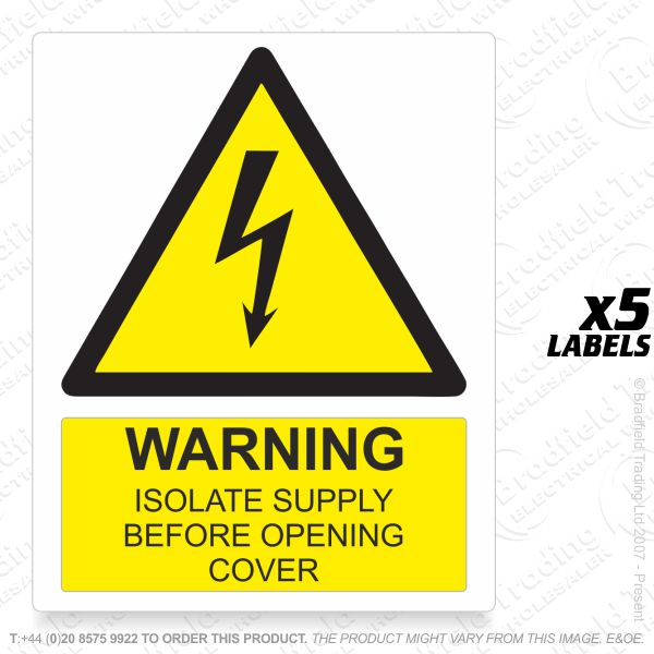 G53) Label *WARNING IS* 105x80 PVC (5)