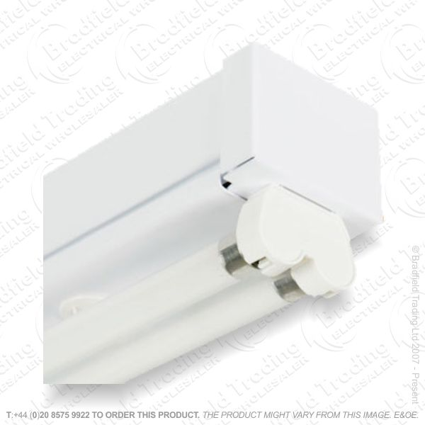 B39) Fitting Twin Narrow 4ft T8 LED Ready