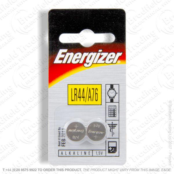 E09) Battery 1.5V Alkaline LR44 pk2 ENR