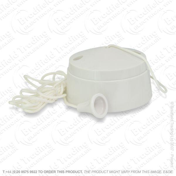 I20) Switch Ceiling SP 6A 2w white MK