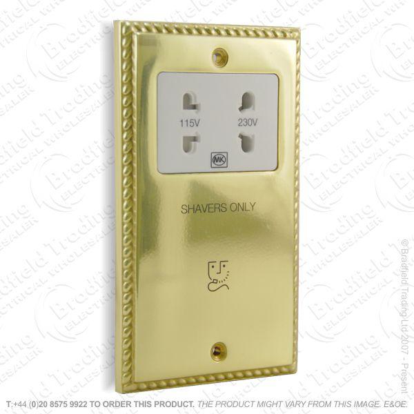 I22) Socket Shaver Dual Voltage RE brass MK
