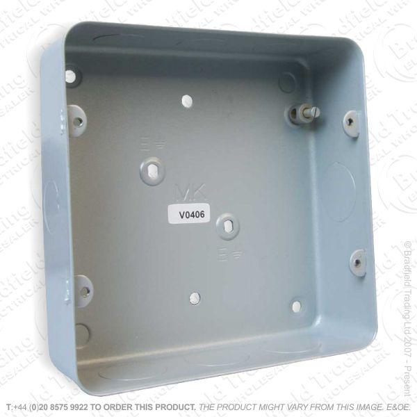 H22) Metal Back Box 6/8G Flush MK