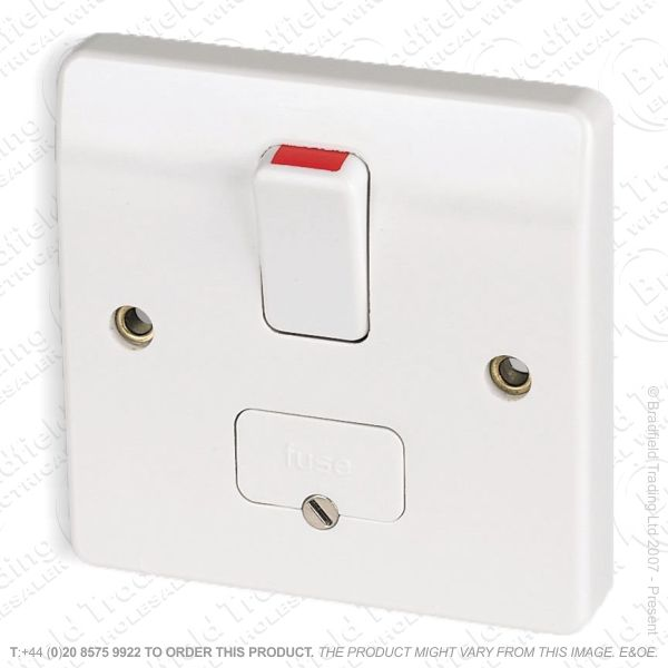 I21) Spur Fused Switched 13A white MK