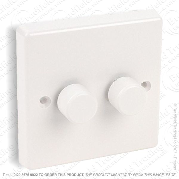 LED Dimmer Switch 2gang 2Way white MK