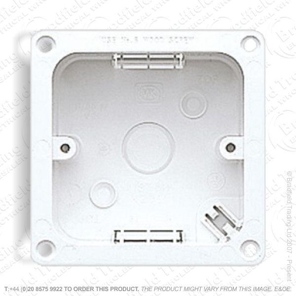 Moulded Flange Box 1G 47mm white MK