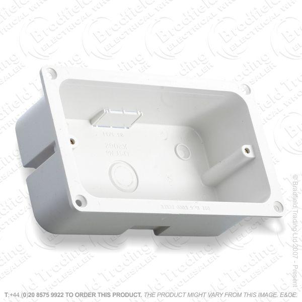 Moulded Flange Box 2G 47mm white MK