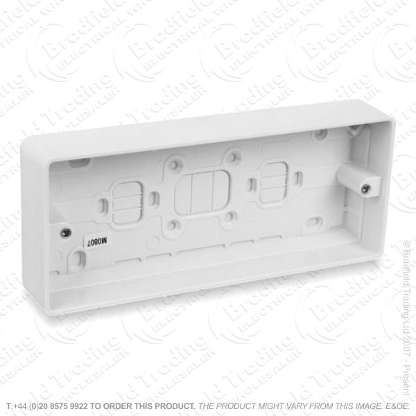 H23) Moulded Box 3G Surface 40mm MK
