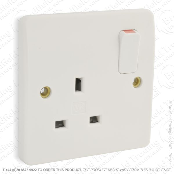 I20) Socket Switched 1g 13A WH MK