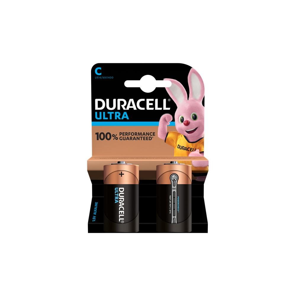 E04) Battery *C* 1.5V DURACELL ULTRA Pkx2