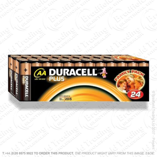 E04) Battery AA 1.5V DURACELL Plus pk 24