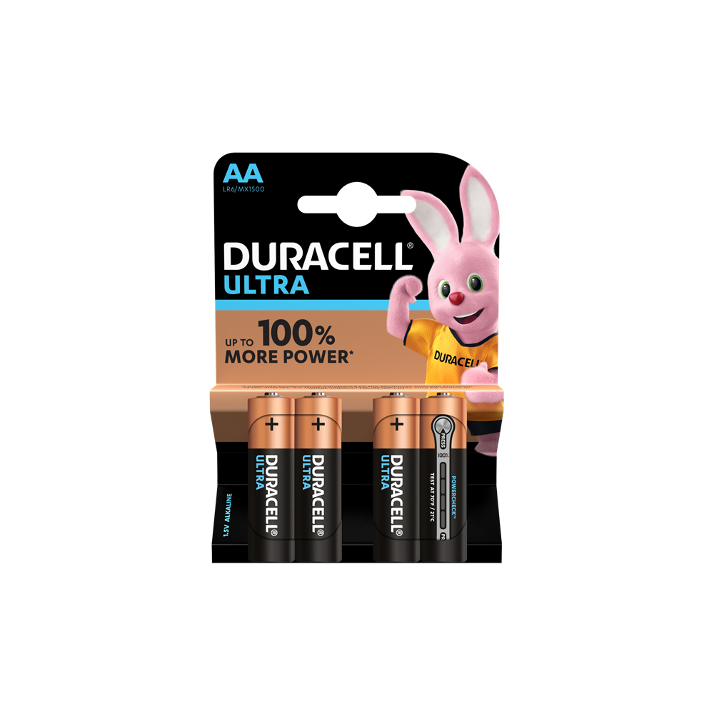 E04) Battery AA 1.5V DURACELL ULTRA PK4