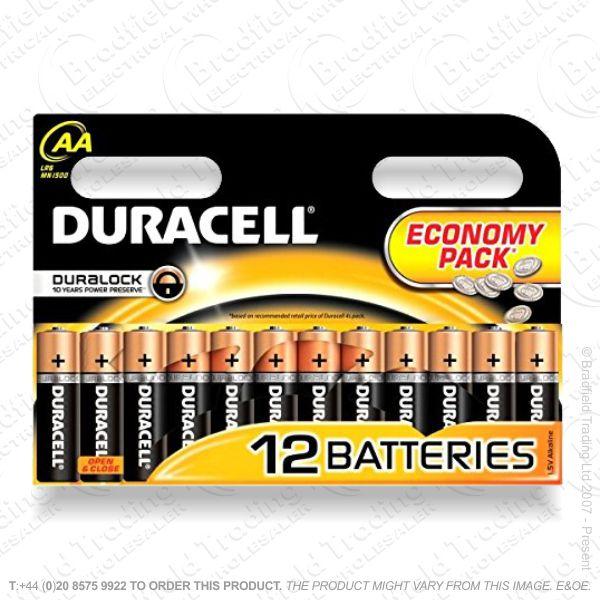 Battery AA 1.5v DURACELL (pk12) Basic DURACEL