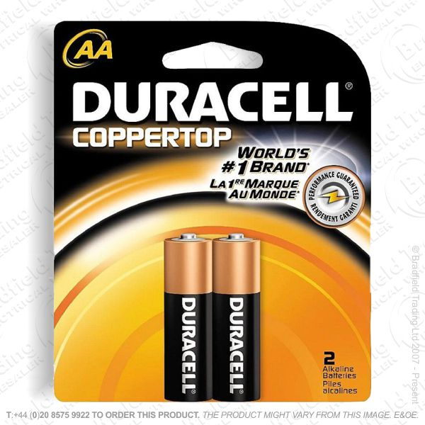 E04) Battery AA 1.5v DURACELL (pk2) Basic