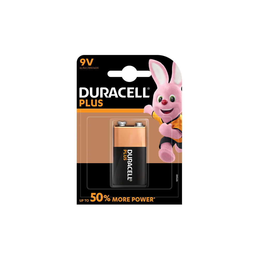 E04) Battery 9V DURACELL Plus (pkx1)