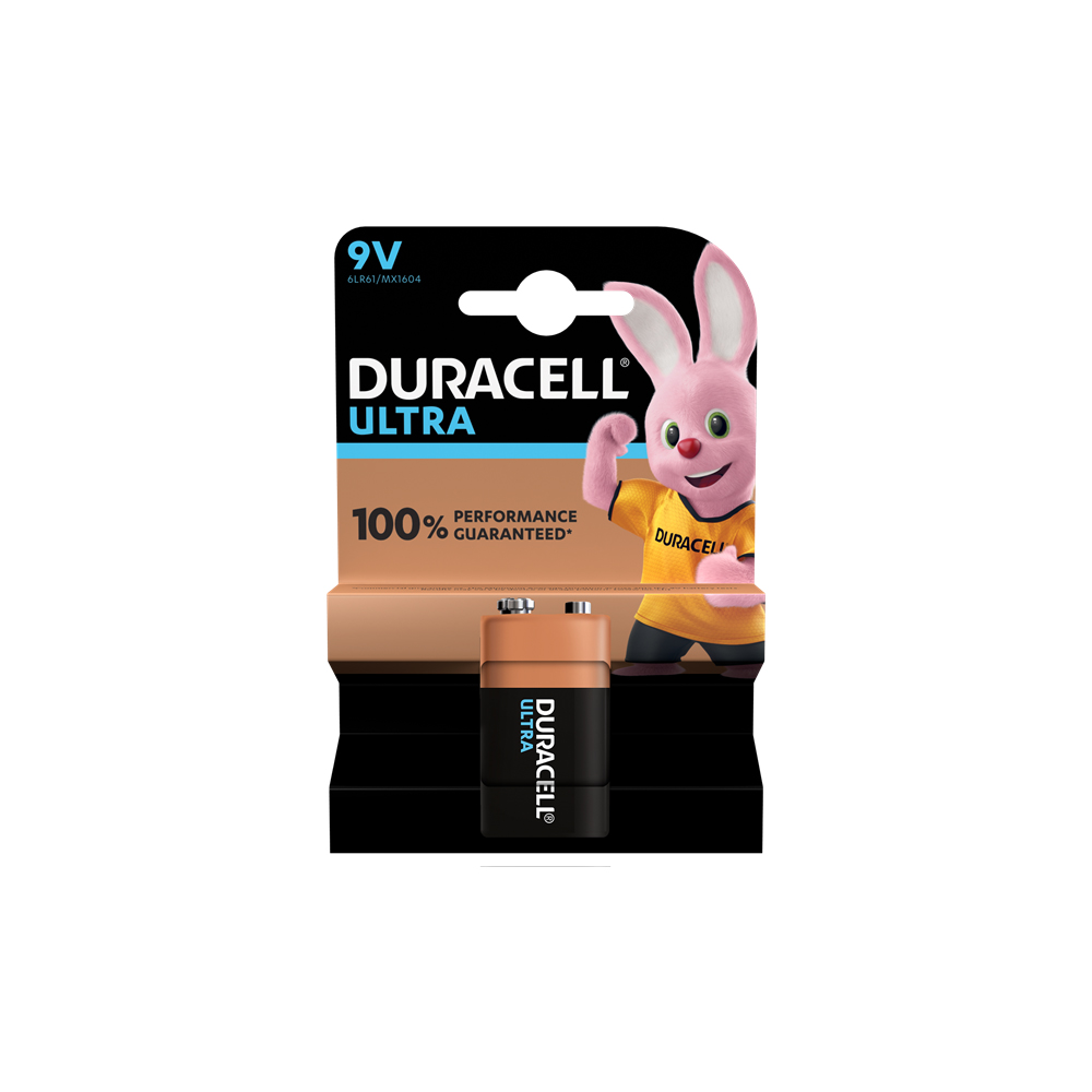 E04) Battery 9V DURACELL ULTRA PK1