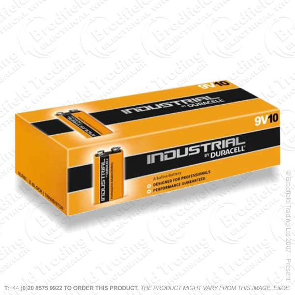 Battery 9V x10 DURACELL Industrial Procell