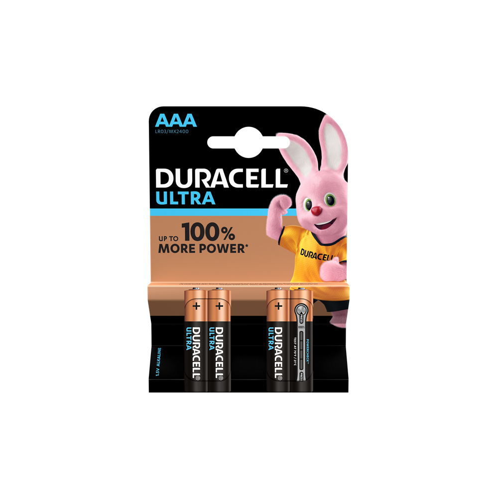 E04) Battery AAA 1.5V DURACELL ULTRA PK4