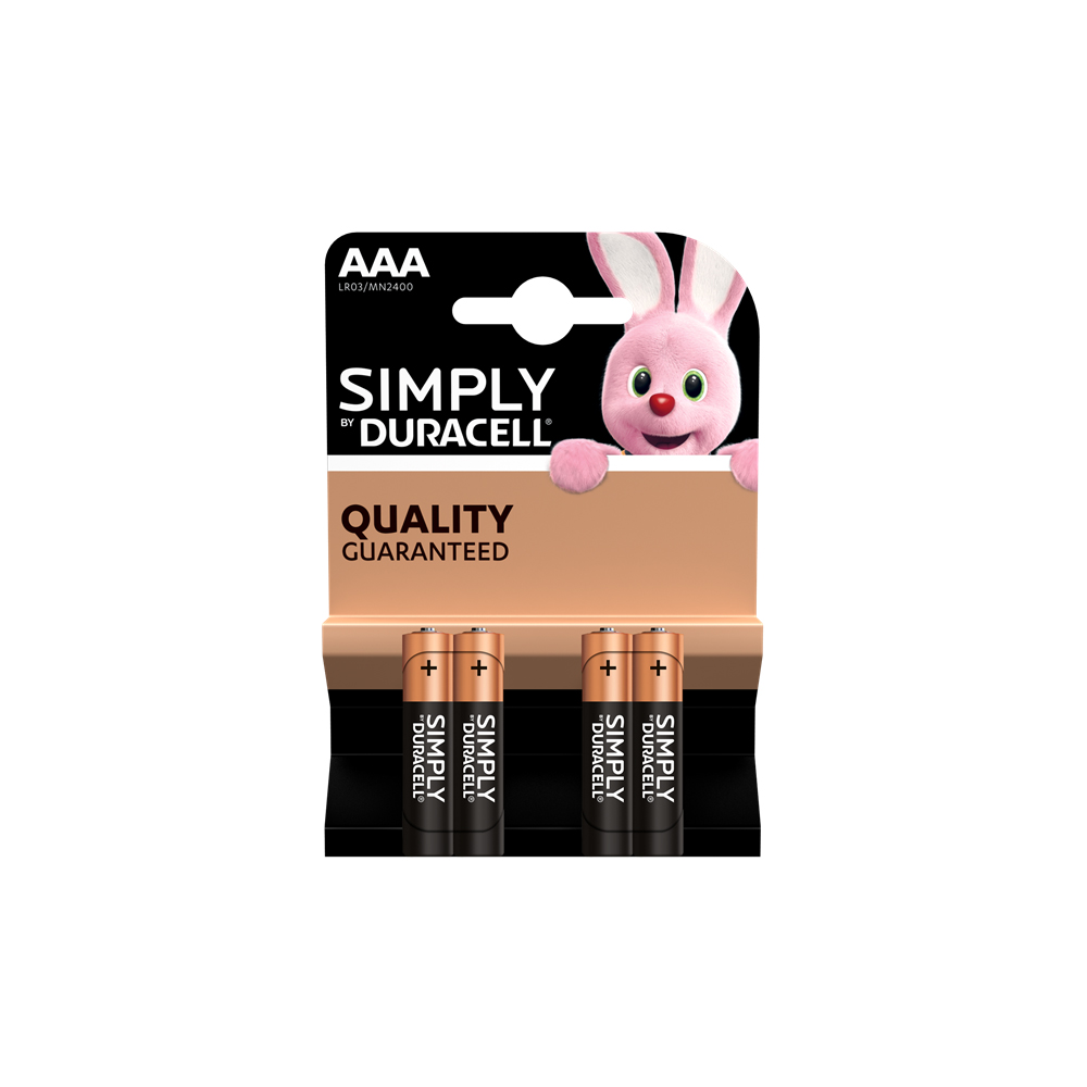 E04) Battery AAA 1.5V DURACELL( pk x4) SIMPLY