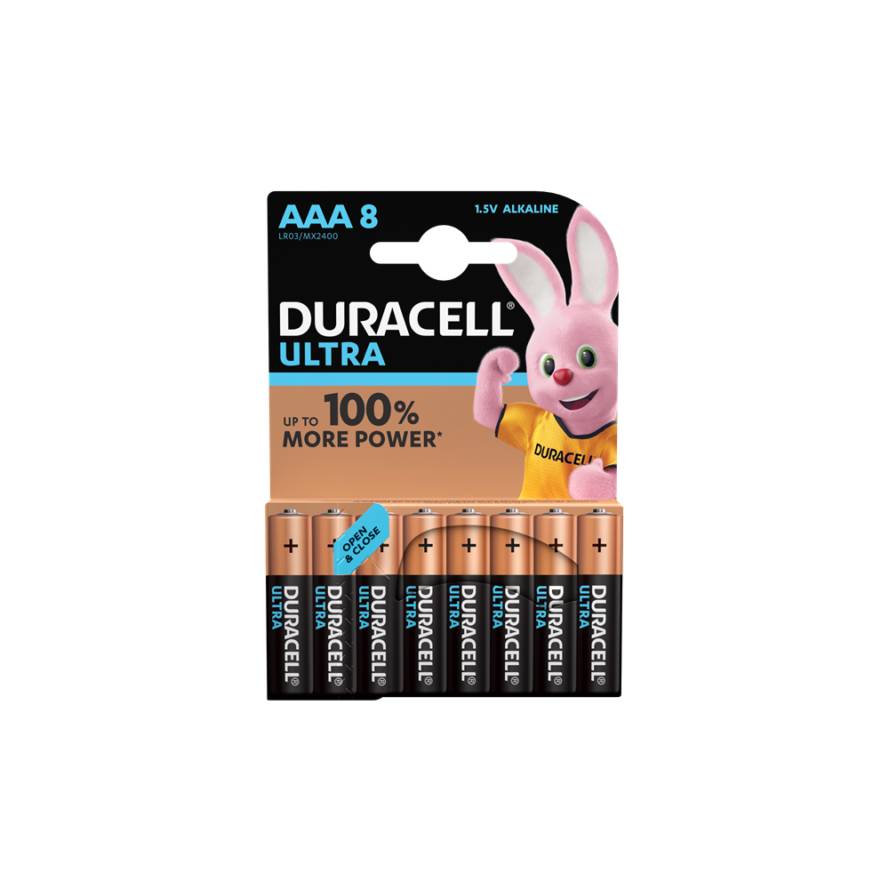 E04) Battery AAA 1.5V DURACELL ULTRA PK8