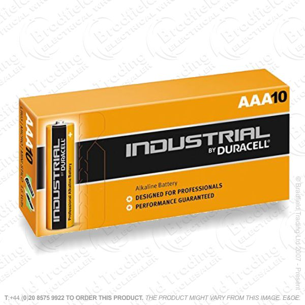 E04) Battery AAA 1.5V Industrial Box10 DUR