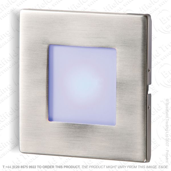 B26) Ressed LED Wall Light 1W Blue