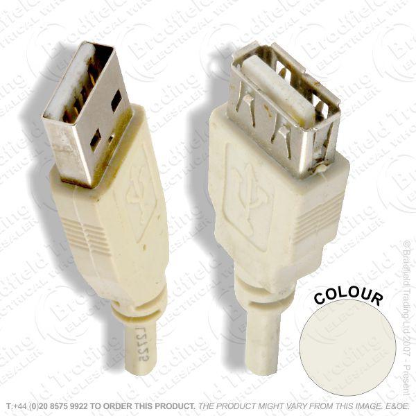 E19) USBa-USBa p-s Extension Lead 2M