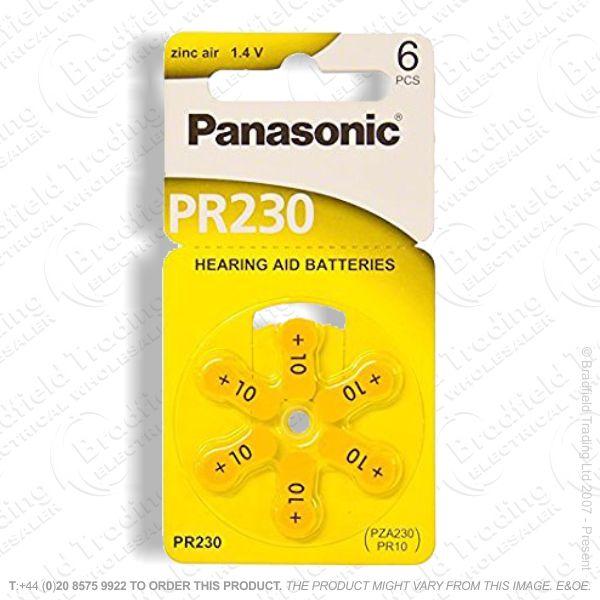 E13) Hearing Aid Batteries ZA233 Pk6 PANASONI