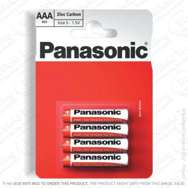 E06) Battery AAA 1.5v Zinc Special (B12x4) PA