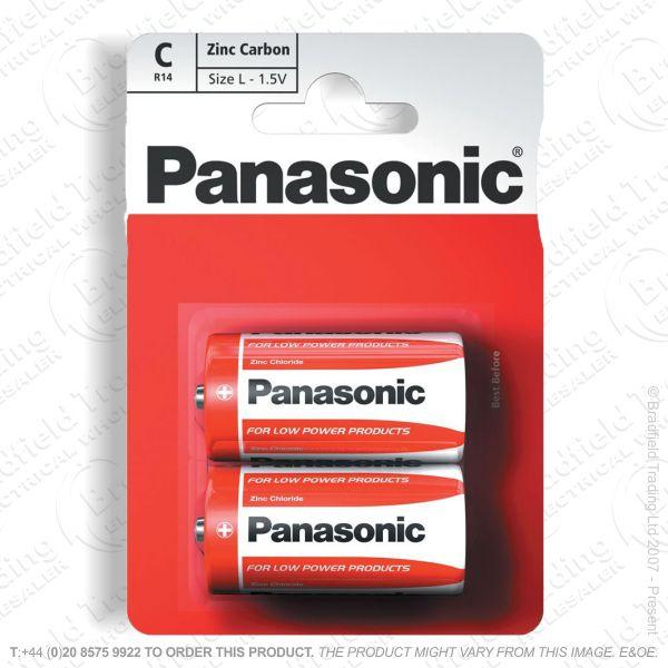 E06) Battery C 1.5v Zinc Special (B12x2) PAN