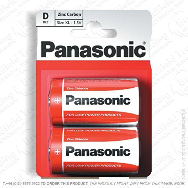 E06) Battery D 1.5v Zinc Special (B12x2) PAN