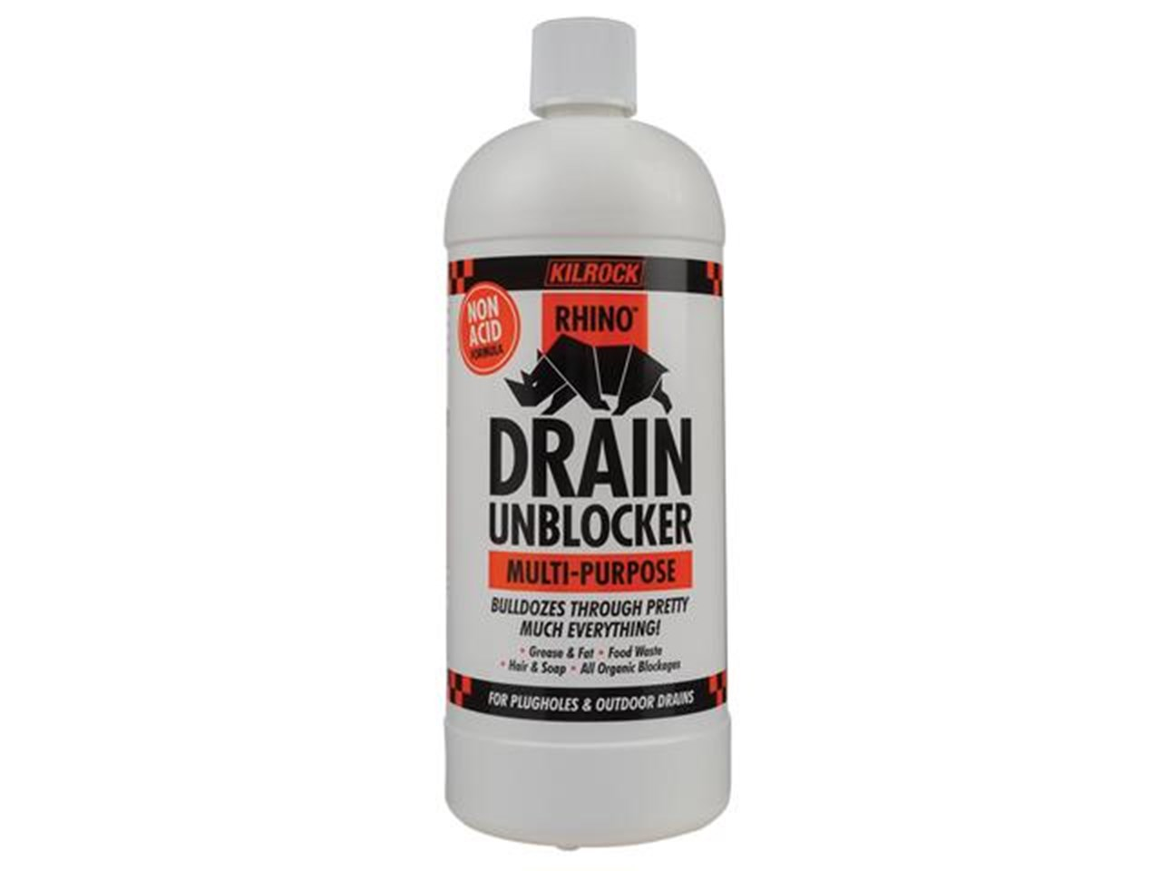 Drain Unblocker Acid Free 1L Rhino KILROCK
