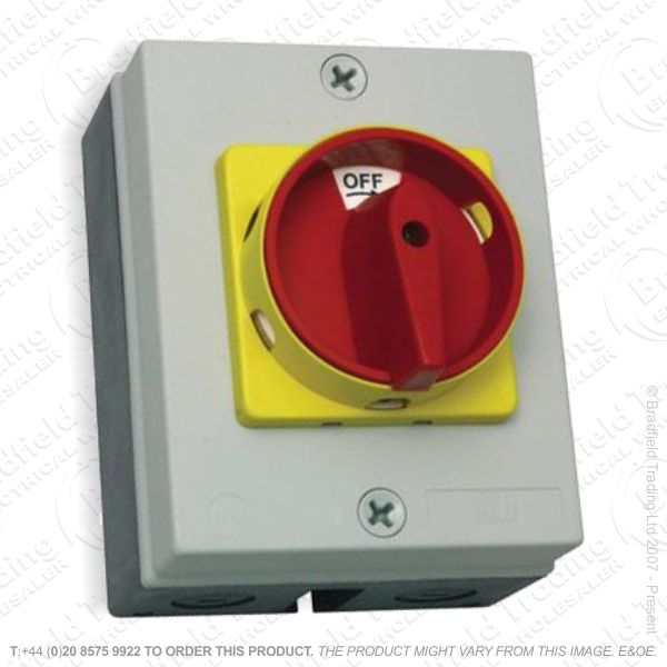 H27) Rotary Isolator 4Pole 40a 18kw IP65 RI40