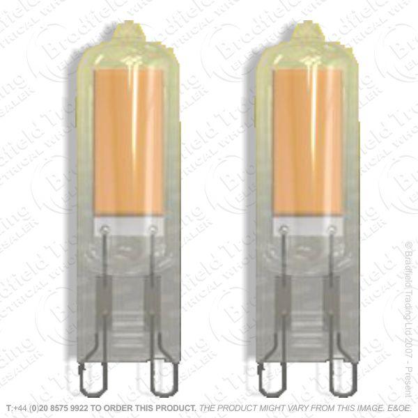 A46) 2w LED Capsule 240V  G9 3K 210lm Pk2 ENE