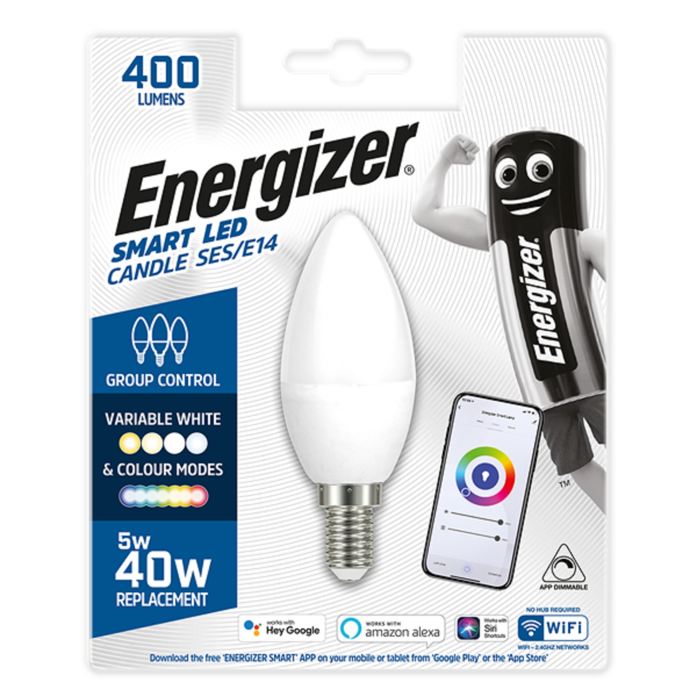 5W LED Smart SES WiFi Candle RGBW CCT ENERGIZ