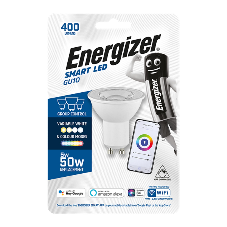 5W LED Smart WiFi GU10 Dimm RGBW CCT ENERGIZE