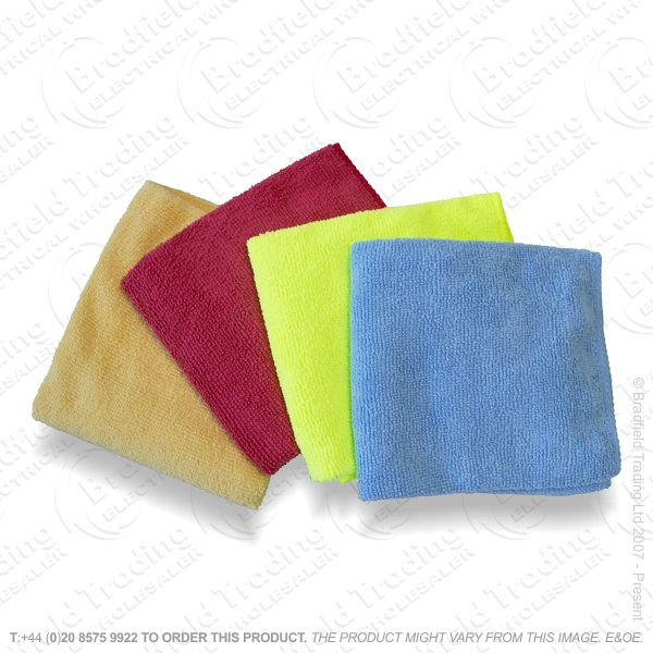 C24) Microfibre Cleaning Cloths 4pk AMTECH
