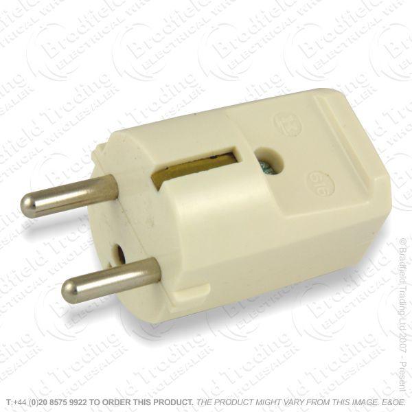 F02) Plug Euro 16A 2pin white