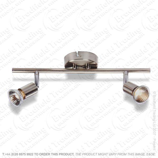 B13) Fitting Bar GU10 Double 2x50w SS