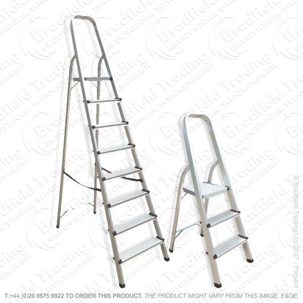 G24) 8Step Ladder Aluminium ALD8 ABBEY