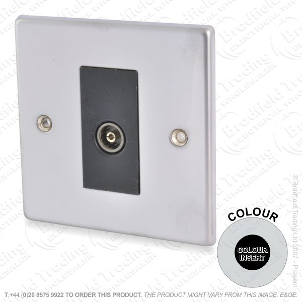 1Gang TV Socket Sta Steel ECO
