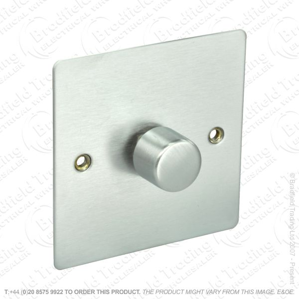 Dimmer 1G 400w Push St Steel ECO