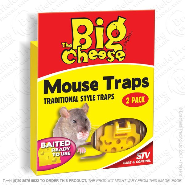 C29) Mouse Traps Wooden Baited Pk2 STV