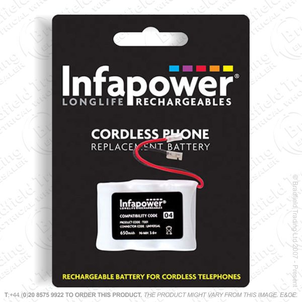 E13) Battery Phone 3x1/2 AA 04 NiMh INFAPOWER