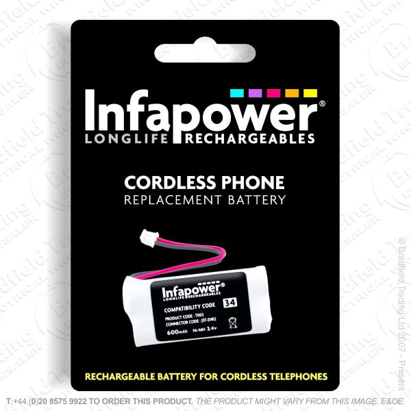 E13) Battery Phone 2xAAA 34H NiMh INFAPOWER